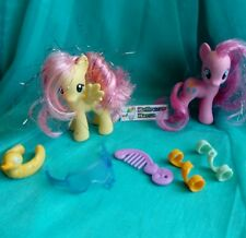 My little pony G4 Crystal Empire Sparkle bath Fluttershy Pinkie Pie +accessories