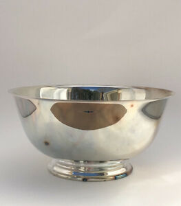 """Vintage Oneida Silversmith Paul Revere Reproduction Silver Plate Bowl 10"""""""