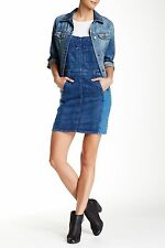 NWT $288 Current Elliott The Carpenter Dress Denim in Mixed Bag Blue Size: 1 NEW