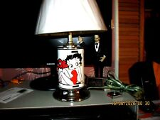 "Betty Boop White and chrome 17"" table lamp"