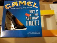 Vintage Camel Cigarettes Pleasure to Burn Ashtray NIB  R.J. Reynolds