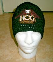 Harley Davidson Inspired HANDMADE Crochet Hat Cap Beanie HOG Eagle Patch Black