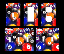BILLIARDS BALLS POOL Light Switch Covers Home Decor Outlet MULTIPLE OPTIONS