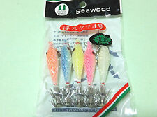 5 Floating Lumo squid jig size 4# (5 colour combination) night fishing