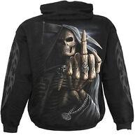 Spiral Direct BONE FINGER - Hoodie Black Death/Reaper/Skulls/Gothic/Skeleton