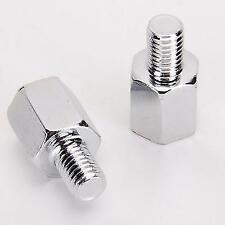 Motorcycle or Scooter Mirror Adapters - 10mm to 8mm clockwise threaded