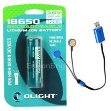 Olight 3400mAh 18650 Rechargeable Battery with UC magnetic USB charger M2T PD35