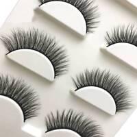 3 Pairs Natural Fake Lashes Makeup 3D Faux Mink Extension False Eyelashes