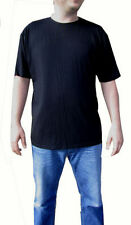 Viscose Short Sleeve Crew Neck Basic T-Shirts for Men