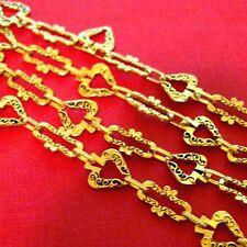 35inch Handmade Antique Golden Chains CL091-Neckel Free