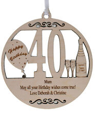 PERSONALISED 40TH BIRTHDAY PLAQUE - ENGRAVED WITH THE WORDING OF YOUR CHOICE