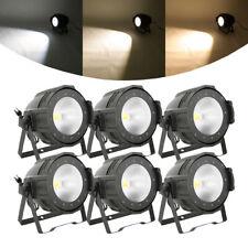 6pcs 200W 2in1 LED Stage Par Light COB Audience Cool Warm White DMX512 Lighting