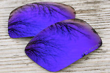 Polarized Violet Blue Dark Purple Mirrored Sunglass Lenses for Oakley Oil Drum