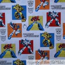 BonEful FABRIC Cotton Quilt Transformers Robot Toy Boy Block Costume Mask SCRAP
