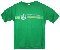 Vtg 70s Single Stitch University Of Virginia SS T Shirt Rainbow Graphic Sz M