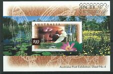 AUSTRALIA 1997 $10 BIRD MINIATURE SHEET PACIFIC '97 OVERPRINT UNMOUNTED MINT