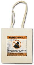 NEIGHBORHOOD WATCH SIGN STOFFTASCHE Symbol Logo Vigilantismus Vigilante