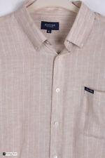 Camicie casual e maglie da uomo beige in lino