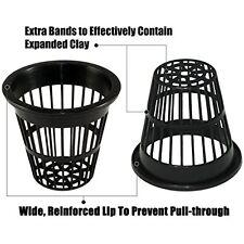 "50 Pcs. Slotted Mesh Pot Garden Basket Hydroponics Aquaponics Orchids 2"" Black"