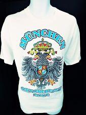 XL Oktoberfest 2002 München Munich White Tee T Shirt Crest Eagles Crown