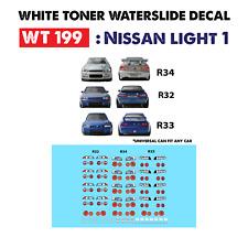 WT199 White Toner Waterslide Decals > NISSAN LIGHT 1>For Custom 1:64 Hot Wheels