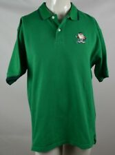 Vintage Looney Tunes Classic Taz Devil Knit Polo Golf Shirt Mens Size XL Green