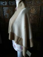 Poncho Bolero Made in Italy Kaschmir/Wollmix 36/38/40/42/44 camel/beige