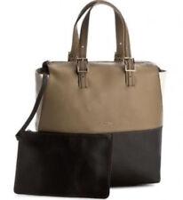 Furla 889315 B BLB5 ODC DORI Pebbled Leather Handbag Tote Kaki $398