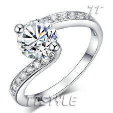 Top Quality TT 18K White Gold GP 1.25 Ct Engagement Wedding Ring Size 5-7 (RF71)