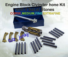 """Cylinder Hone / Engine Honing Tool / Glaze Buster 1.3/8"""" to 2.1/4"""" + 4 Set Stone"""