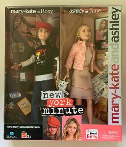 Mary-Kate & Ashley Olsen Dolls NEW YORK MINUTE Movie 2004 Mattel C1989 NIB NRFB