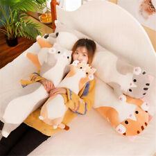 Long Cat Plush Toy Soft Stuffed Kitten Pillow Kids Sleeping Pillow Home Decor us