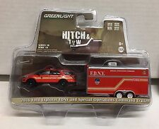 2016 Ford Explorer FDNY & Operations Command Trailer * Greenlight  Hitch & Tow