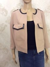 NEW M&S Ladies Nude Short Jacket, Neutral, Exclusive Trimmings, Size 12
