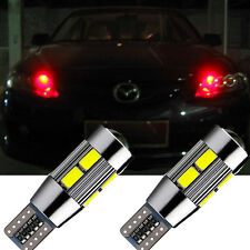T10 Red 194 W5W 5630 LED 10 SMD CANBUS ERROR Car Side Wedge Light Bulb Lamp