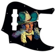 J Jazz Bass Pickguard Custom Fender Graphical Guitar Pick Guard Smokin' Cowboy
