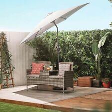 Large Garden Umbrella Patio Parasol Outdoor Waterproof Cantilever Canopy Ivory