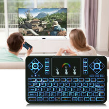 7 Color Backlight Mini Handheld USB Wireless Keyboard w/ Touchpad Remote Control