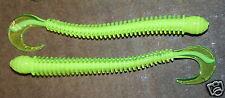 "4"" Ring Worm Disc Body Chart White Core Bass Walleye Plastic Jig Worm 50 pk bulk"