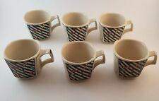 Rosenthal Espresso Cups - Flash Pattern, Set of 6