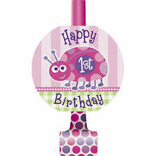 1st Birthday Ladybug Pink 8 ct Blowouts