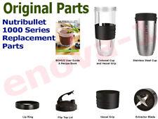 NutriBullet 1000 Original Replacement Parts Cup Steel Jug Lip Ring FlipLid Blade