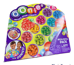 Oonies Mega Refill Pack Multi Color 90 Pellets 12 Connectors Craft Kit