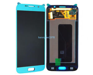 For Samsung Galaxy S6 G920 LCD Display Touch Screen Digitizer sky blue+cover new
