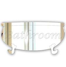 12cm Vasca da Bagno Porta Del Bagno Firmare Specchio in acrilico moderno PLACCA
