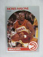 Moses Malone Atlanta Hawks 1990 NBA Hoops Basketball Card Number 31
