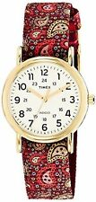 "Timex TW2P74100, Women's ""Weekender"" Paisley Fabric Watch, Indiglo, TW2P741009J"