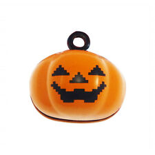 10pcs Jewelry Making Orange Halloween Pumpkin Bells Alloy Pendants Charms 53561