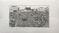 Karl Adser 1912-1995 Häuser Natur Normandie Bretagne Blick übers Feld Frankreich