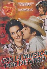 DVD - Con La Musica Por Dentro NEW Marga Lopez German Valdez FAST SHIPPING !